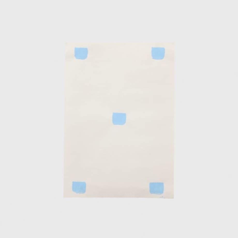 [Impronte di pennello n.50 a intervalli di 30 cm] by Niele Toroni