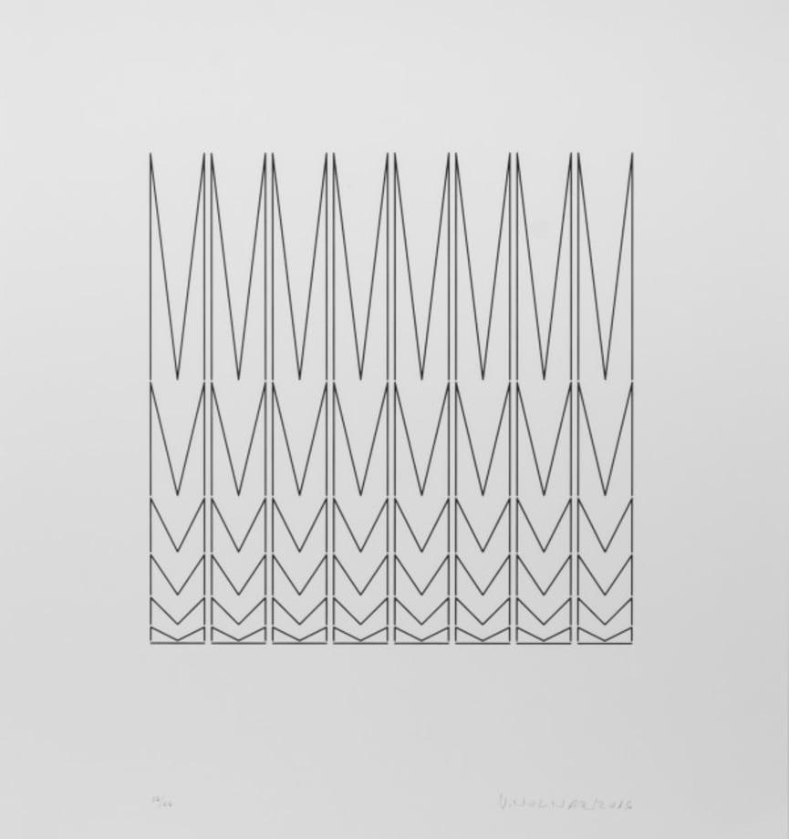 En lignes, en noir by Vera Molnar