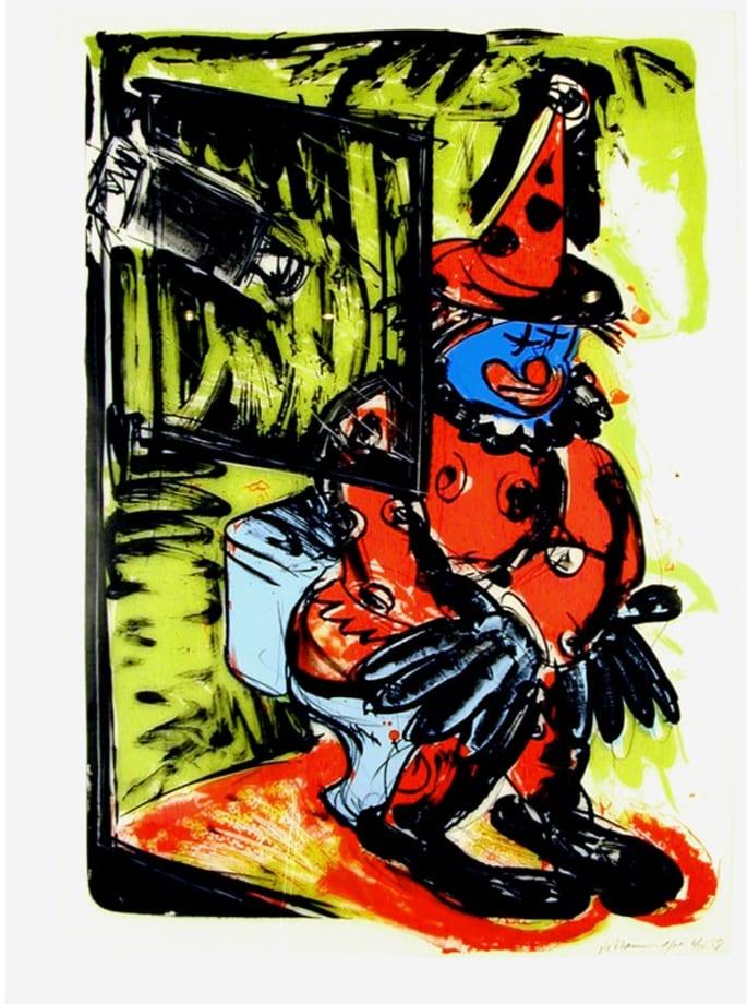 Clown Taking a Shit by Bruce Nauman