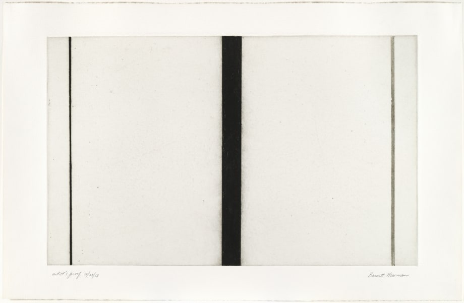 Untitled Etching #1 by Barnett Newman