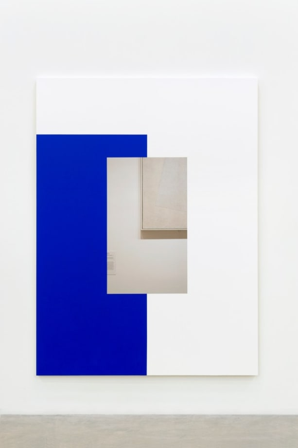 Abstract Painting (Blue on White) by Ian Wallace