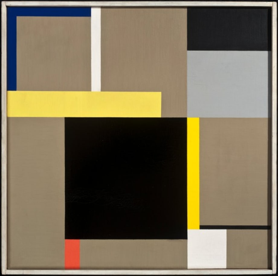 Komposition 24 A mit schwarzem Quadrat by Walter Dexel