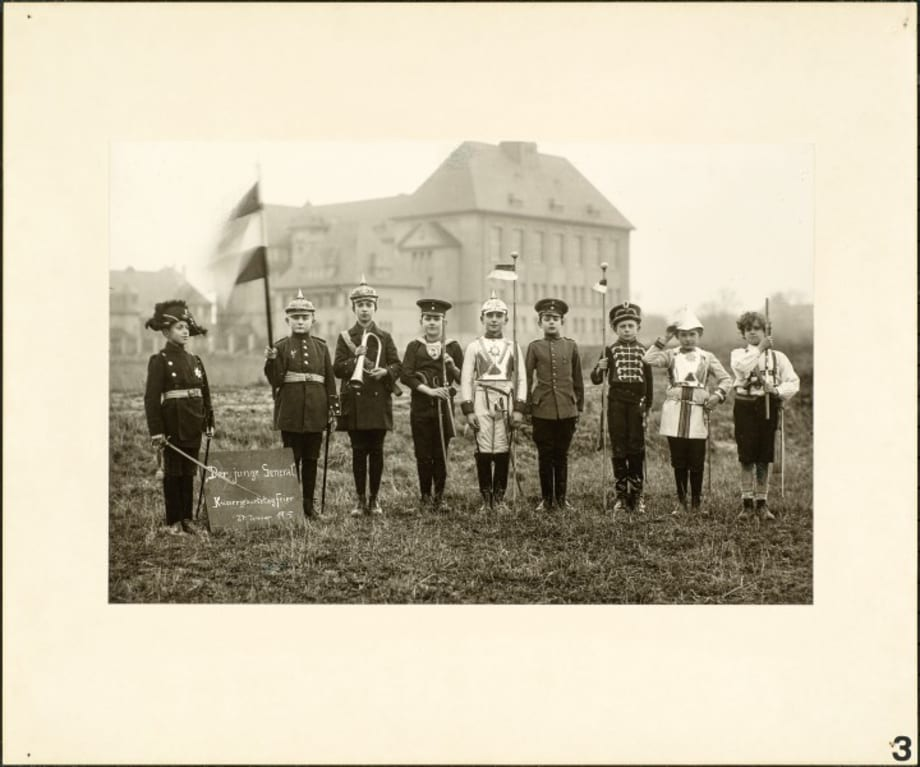 High school boys celebrate the Kaiser's birthday, 1915 by August Sander