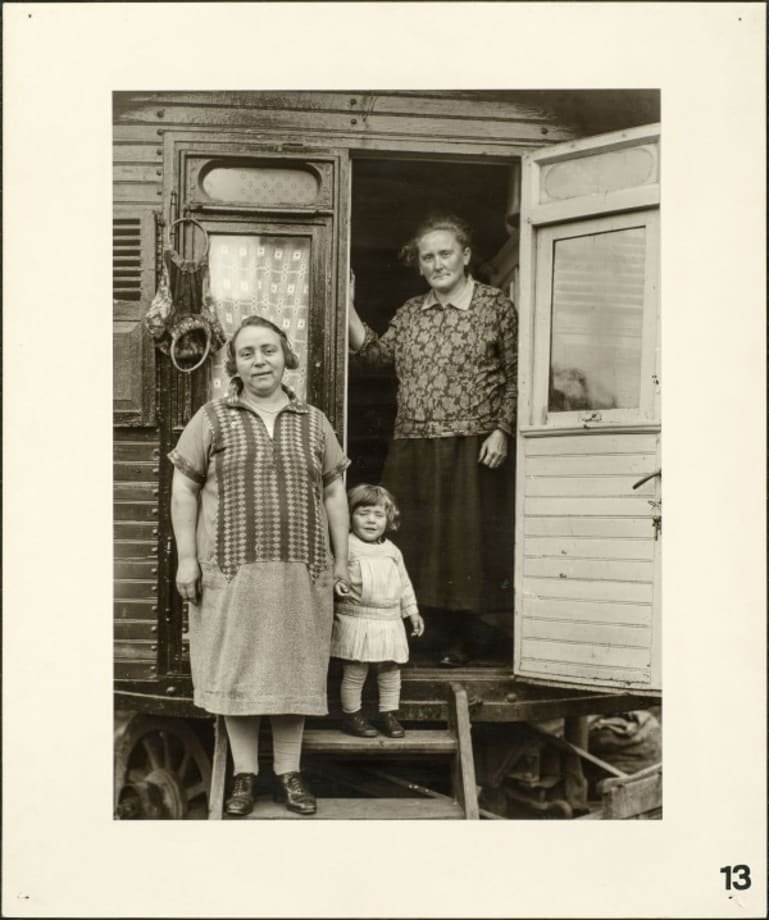 Three generations in a parish fair wagon, 1926 by August Sander