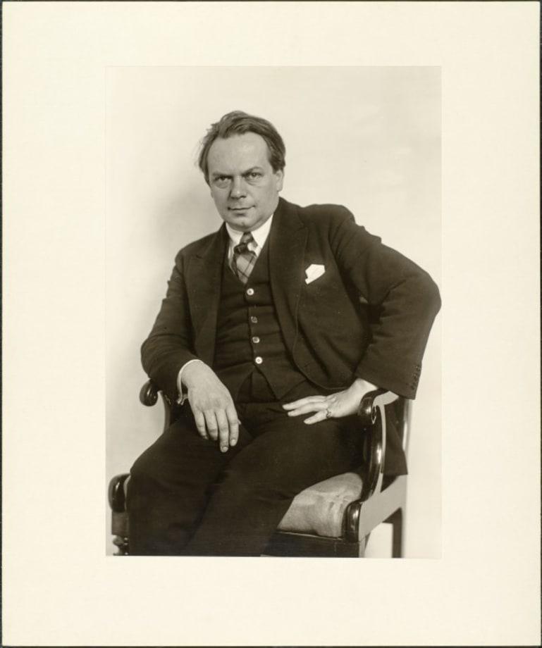 Theatre director (Gustav Hartung), 1928 by August Sander