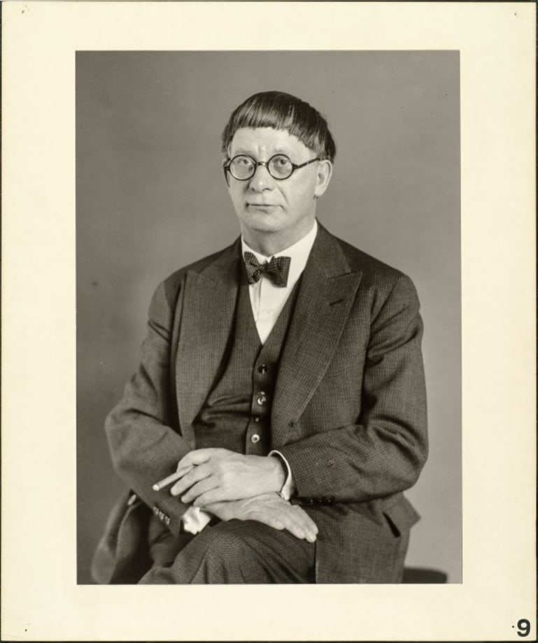 The architect (Hans Pölzig), 1929 by August Sander