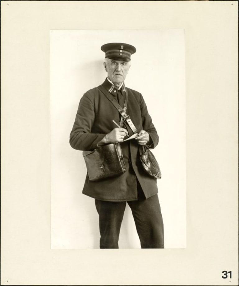 Registered letter postman, 1925 by August Sander