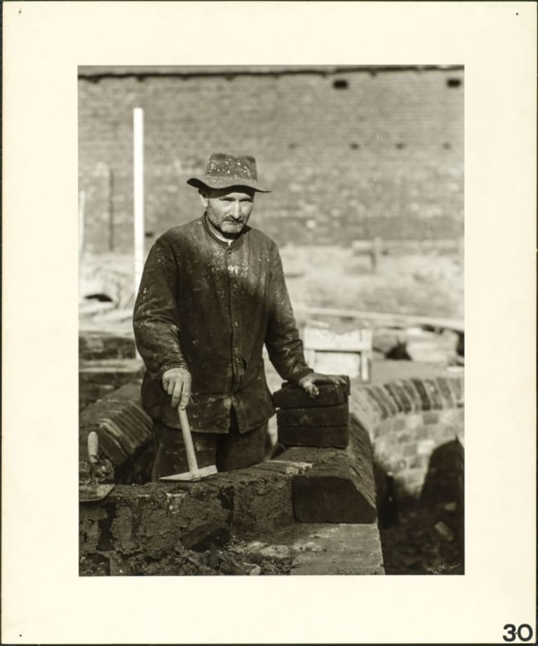 Bricklayer, 1928 by August Sander