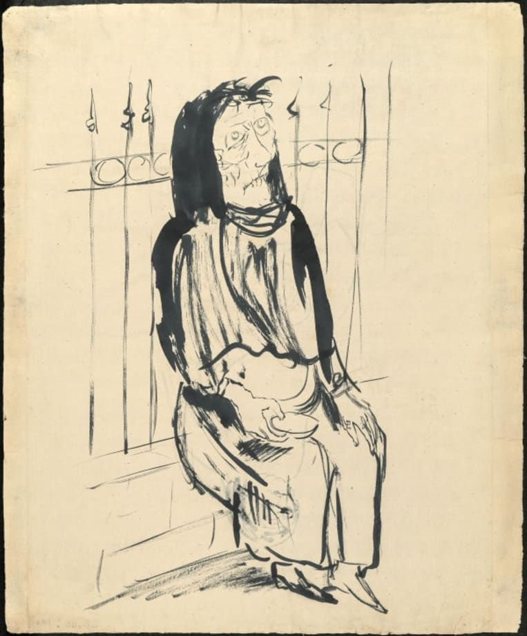 Bettlerin by Otto Dix