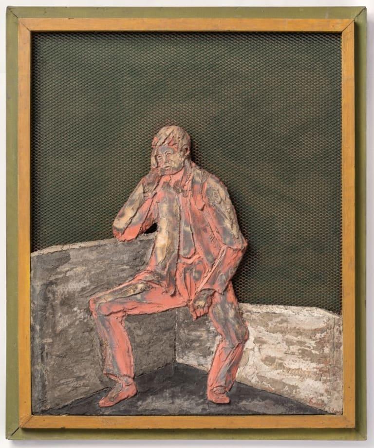 Seated man by Laszlo Peri