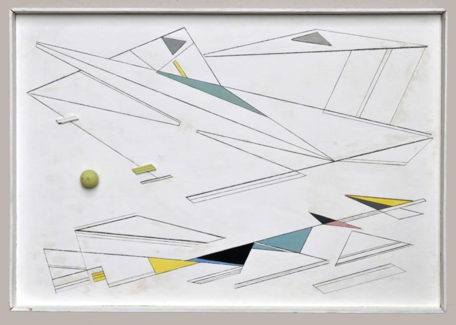 Xixe peinture relief by Marcelle Cahn