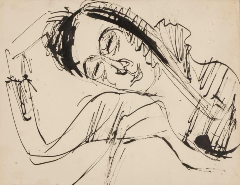 Ruhender Kopf (Resting Head) by Ernst Ludwig Kirchner
