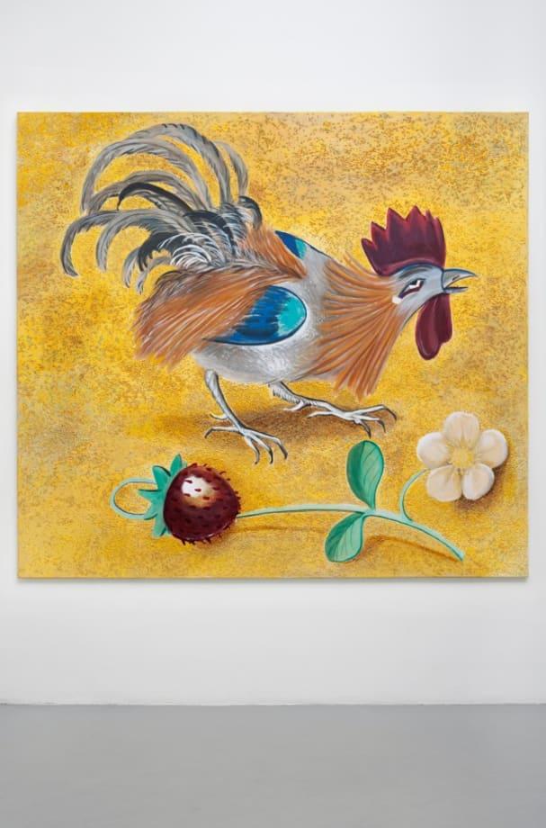 Untitled (Gold cock) by Allison Katz