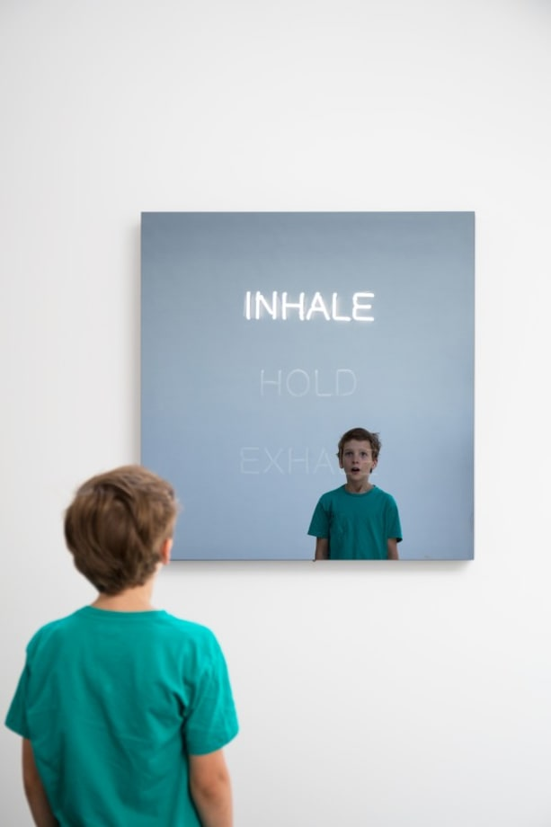 INHALE HOLD EXHALE by Jeppe Hein