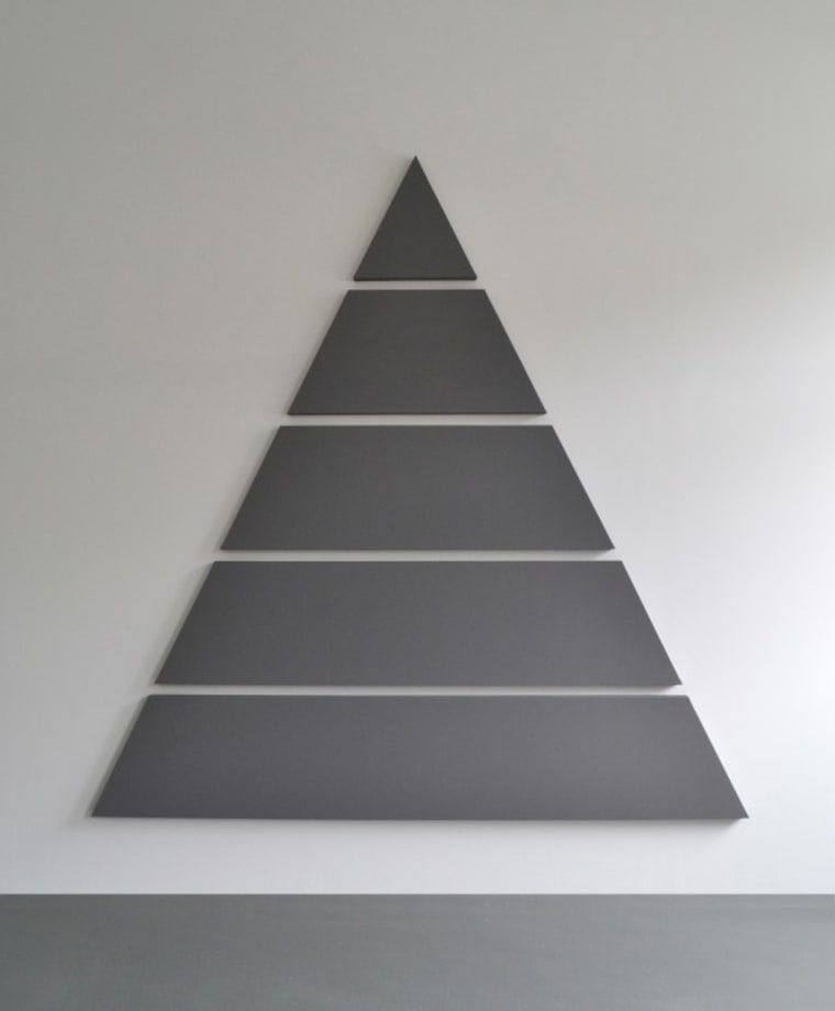 Divided Triangle Painting (5 parts) by Alan Charlton