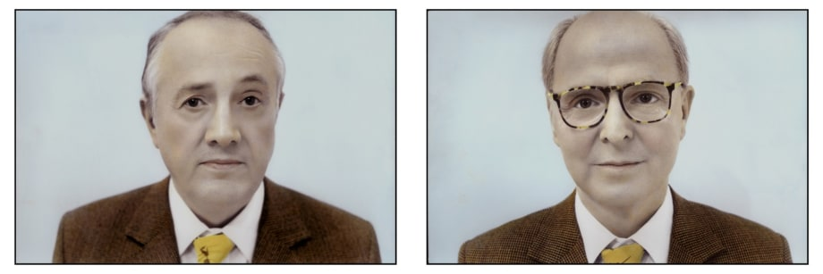 Gilbert & George (Diptych) by Youssef Nabil