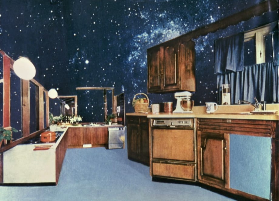 """""""Cosmic Kitchen II"""" from the series """" House Beautiful: The Colonies"""" by Martha Rosler"""