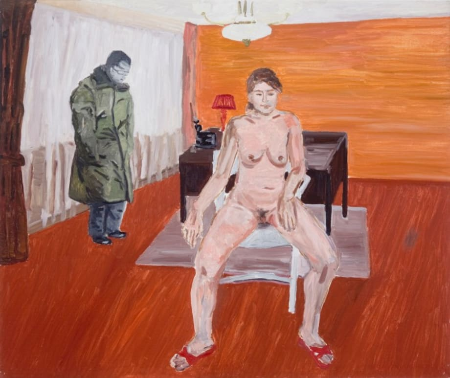 Naked Woman and a Man in Military Uniform by Zhao Gang