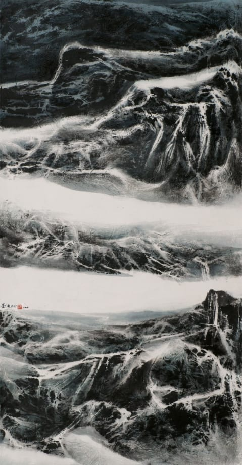 Snow-Bound Mountains by Liu Kuo-Sung