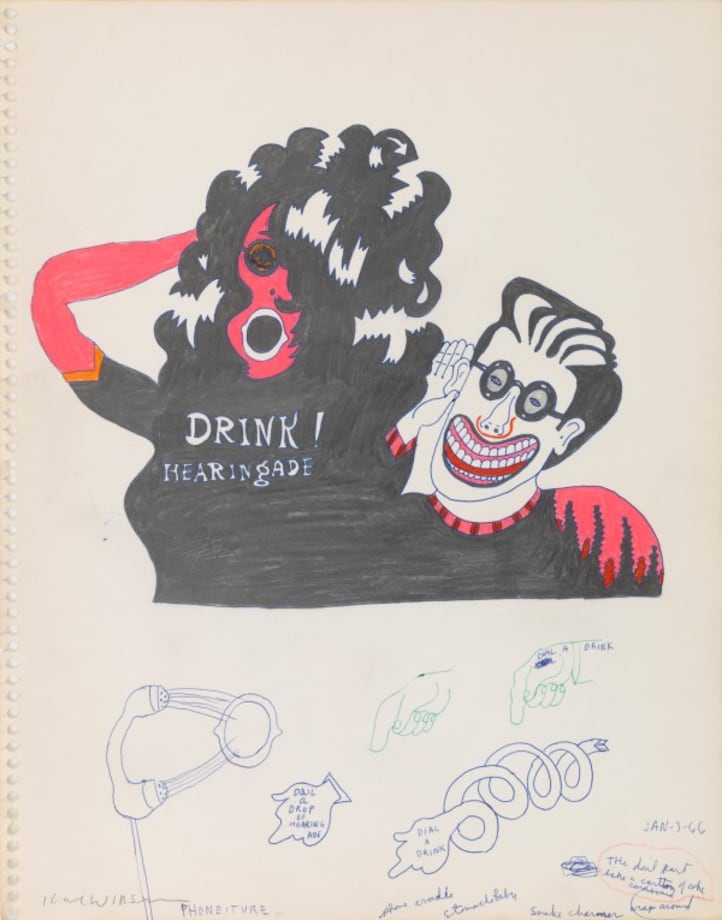 Untitled (Study for Drink Hearing Ade) by Karl Wirsum