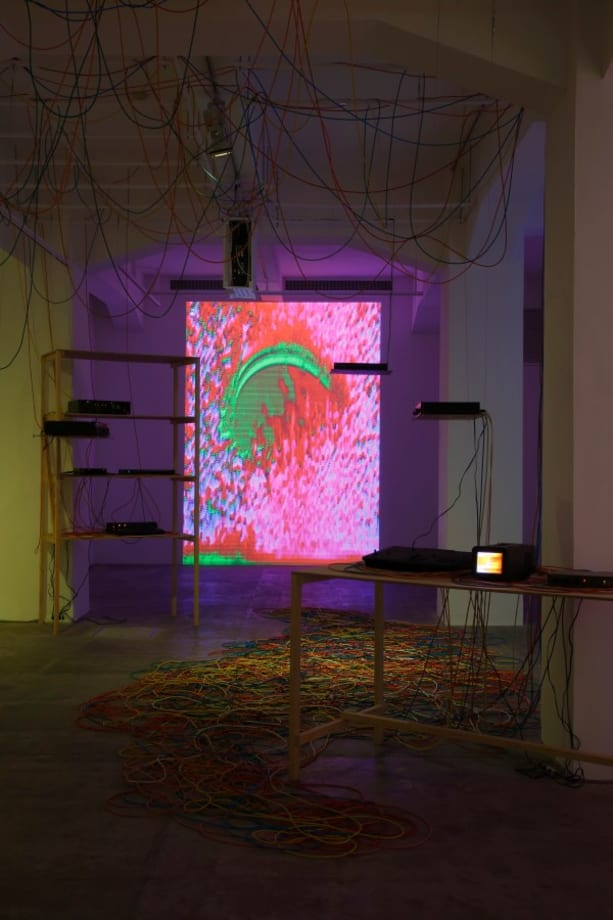 installation view of Video Feedback Configuration no. 5 / 6 by Masayuki Kawai