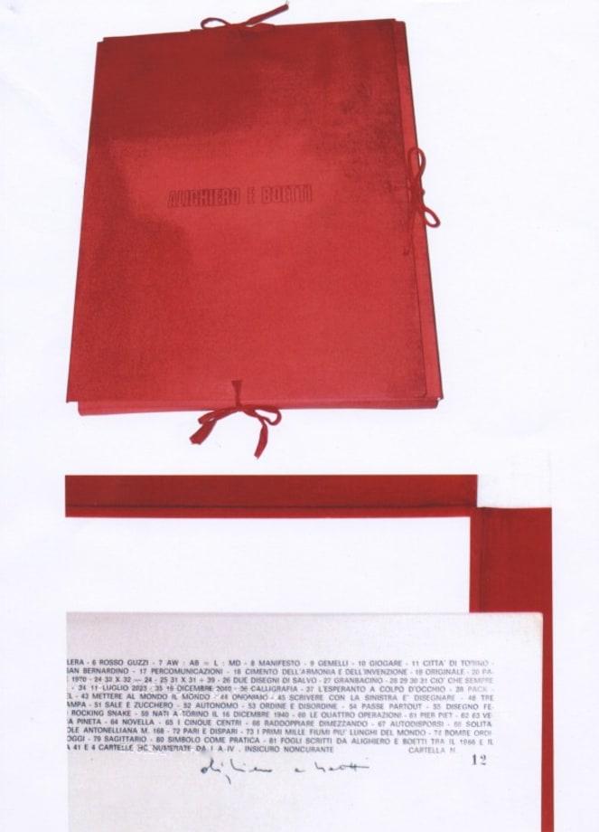 Insicuro Noncurante by Alighiero Boetti