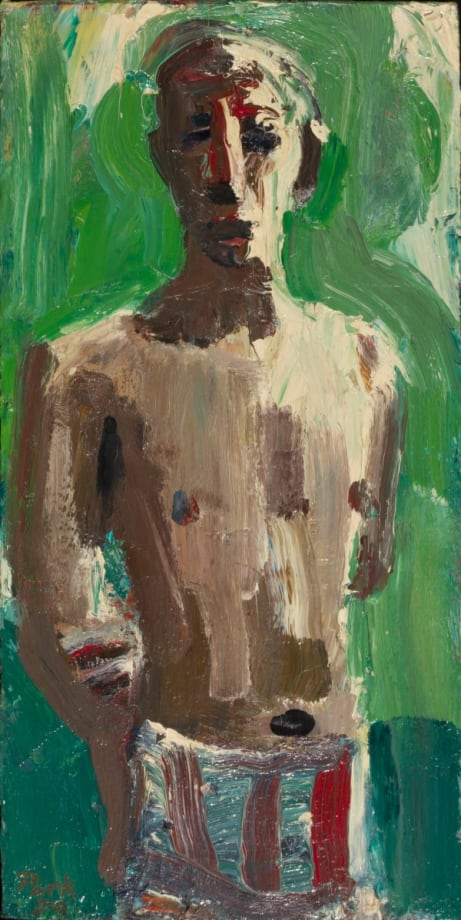 Bather with Green Sea by David Park