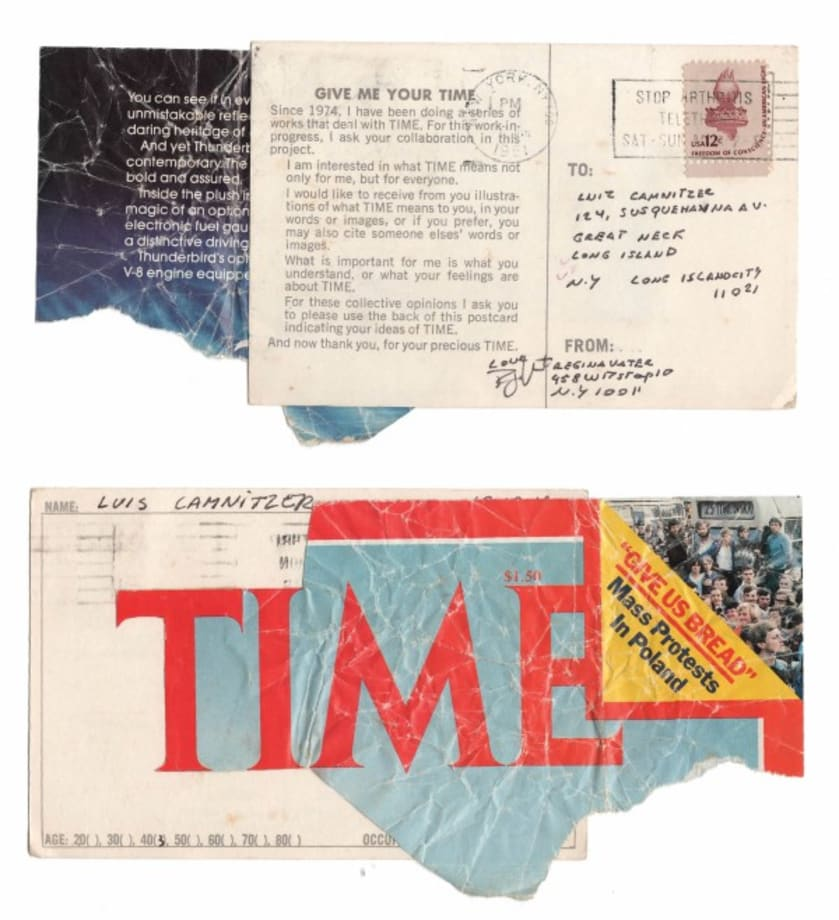 Give me your time (Luis Camnitzer) by Regina Vater
