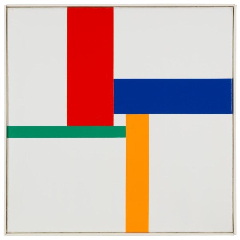 farbprogression um weissen kern by Max Bill