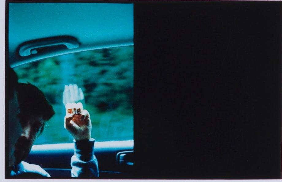 Through a Speeding Car Window (David) by Luke Fowler