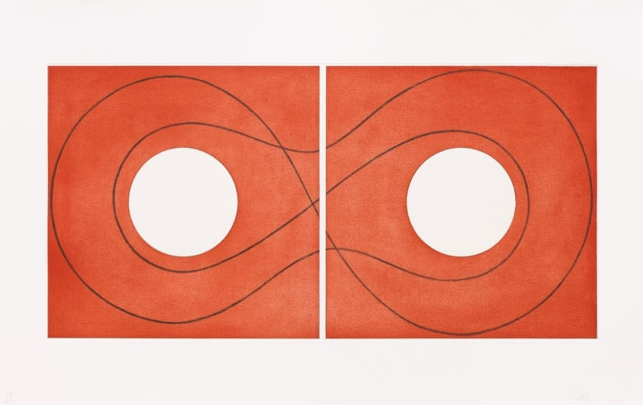 Double Square Frame II by Robert Mangold