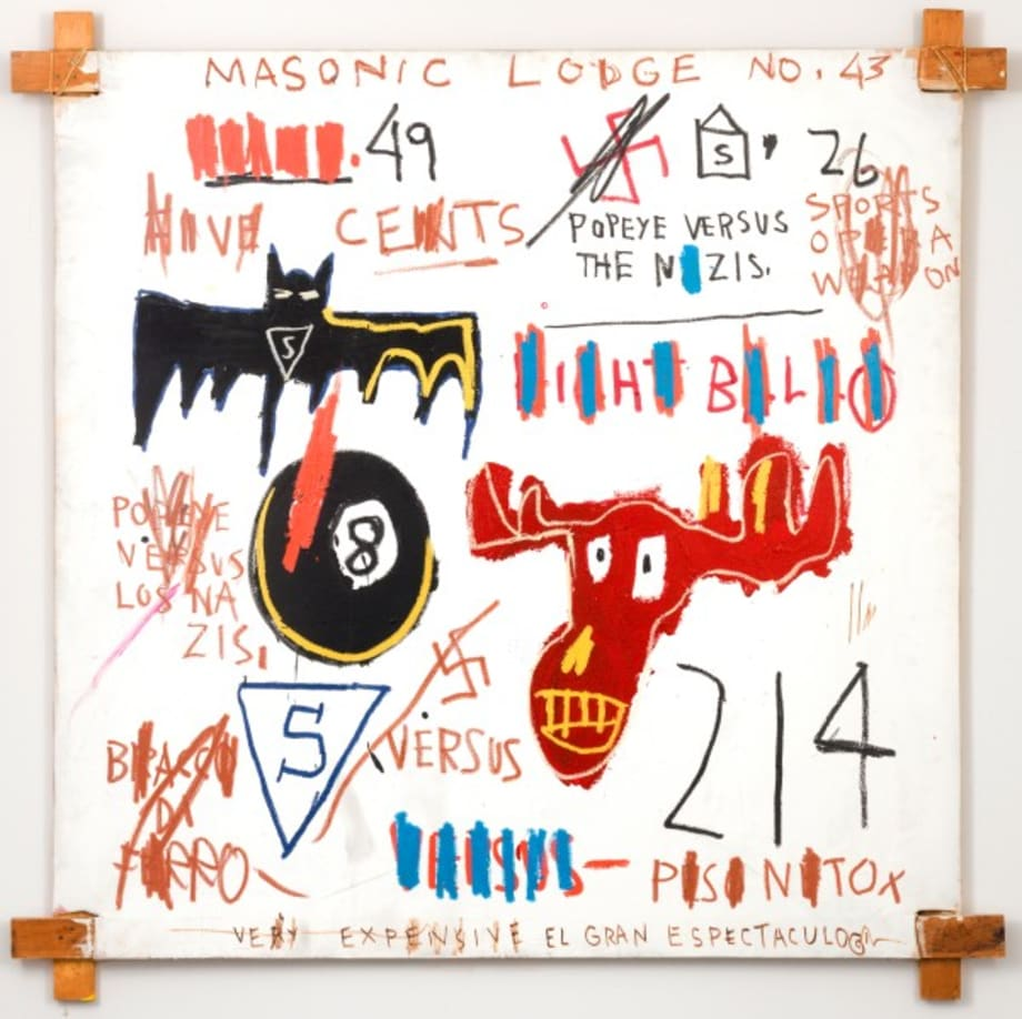 Television and Cruelty to Animals by Jean-Michel Basquiat
