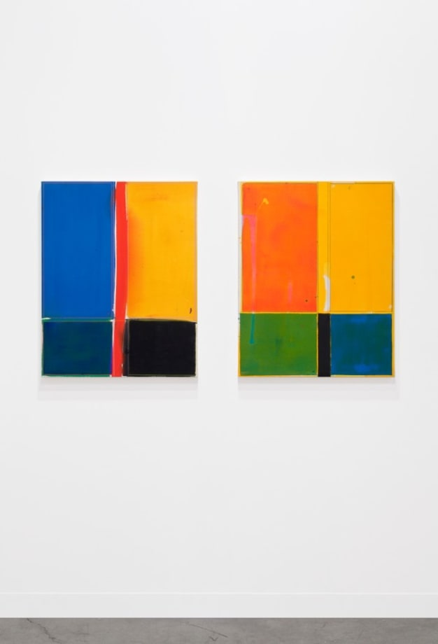 Small Bottoms (Pink, Yellow, Green, Blue, Black) (Blue, Yellow, Red, Black, Green) by Matt Connors