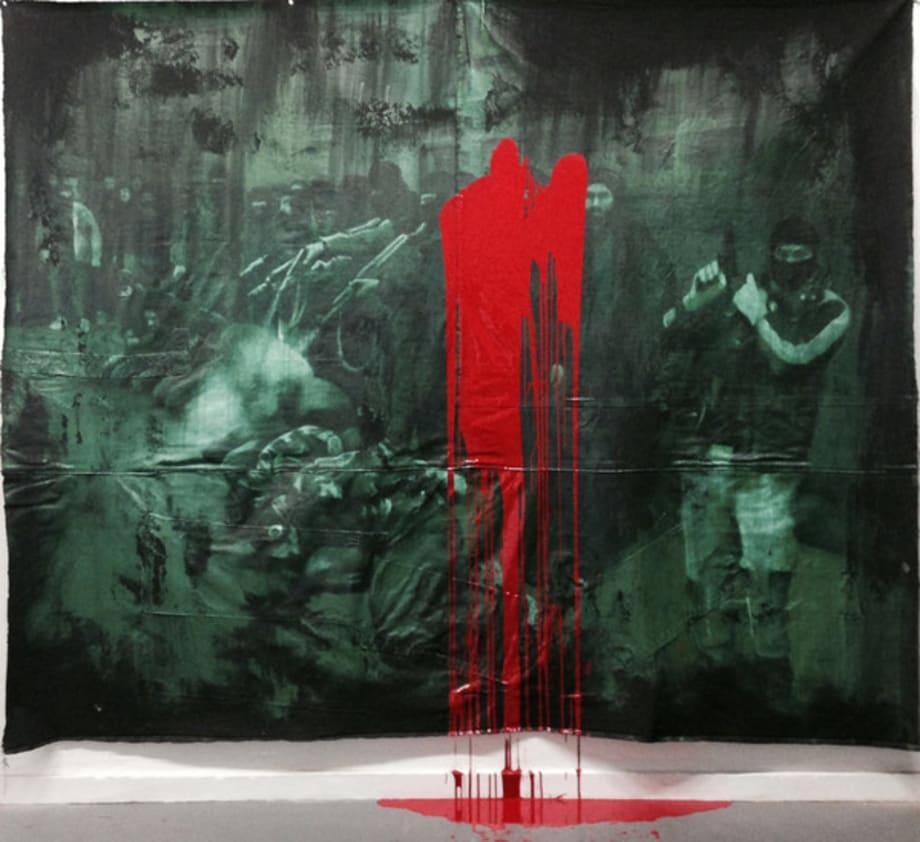 Farsa - Manet (A execução de soldados do EIIL) by Dora Longo Bahia