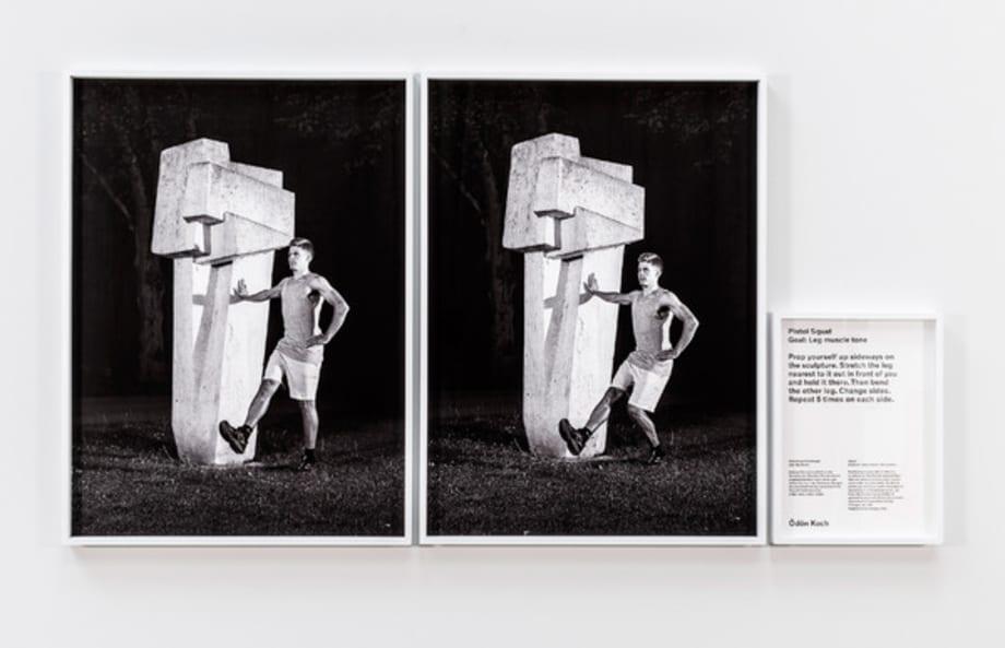Kunstturnen (Pistol Squat) (Artistic Gymnastics (Pistol Squat)) by Christian Jankowski