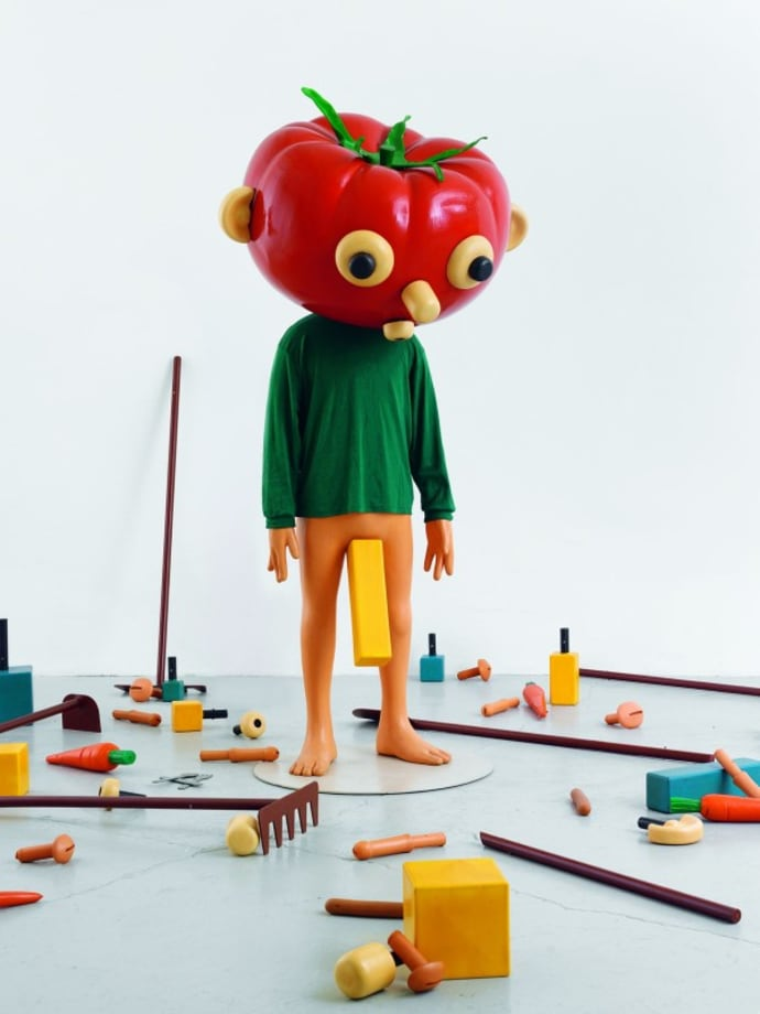 Tomato Head (Green) by Paul McCarthy
