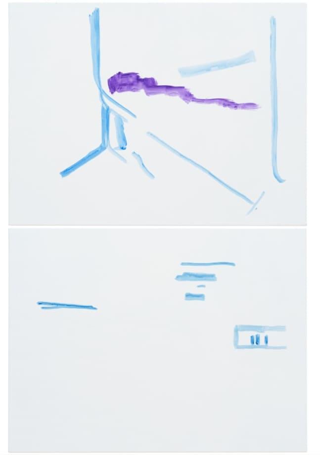 """""""ohne Titel (Wirklichkeit erschlägt Kunst) 20"""" by Michael Krebber"""