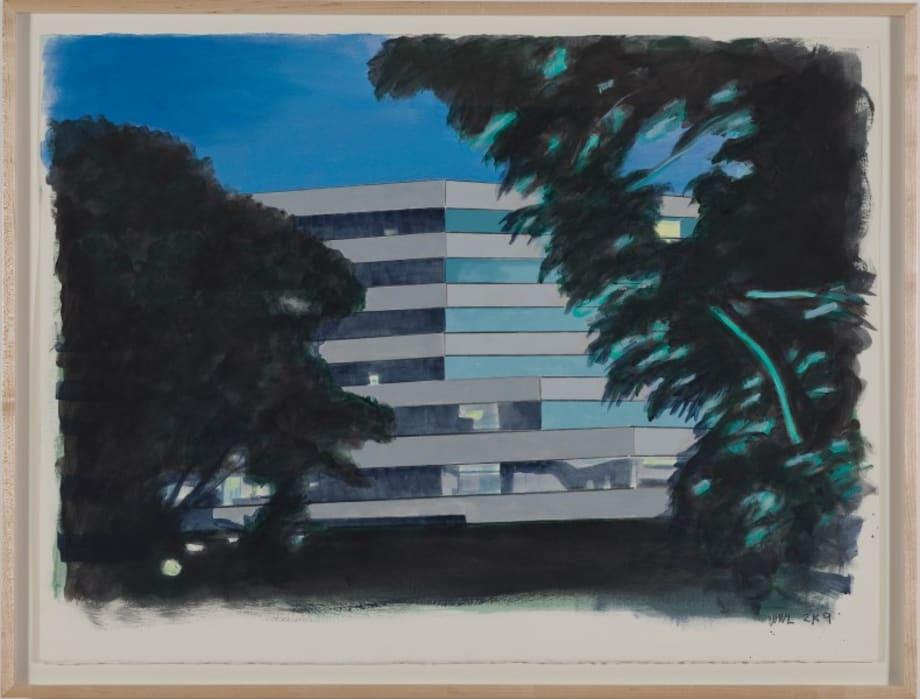 Building near JACC by William Leavitt
