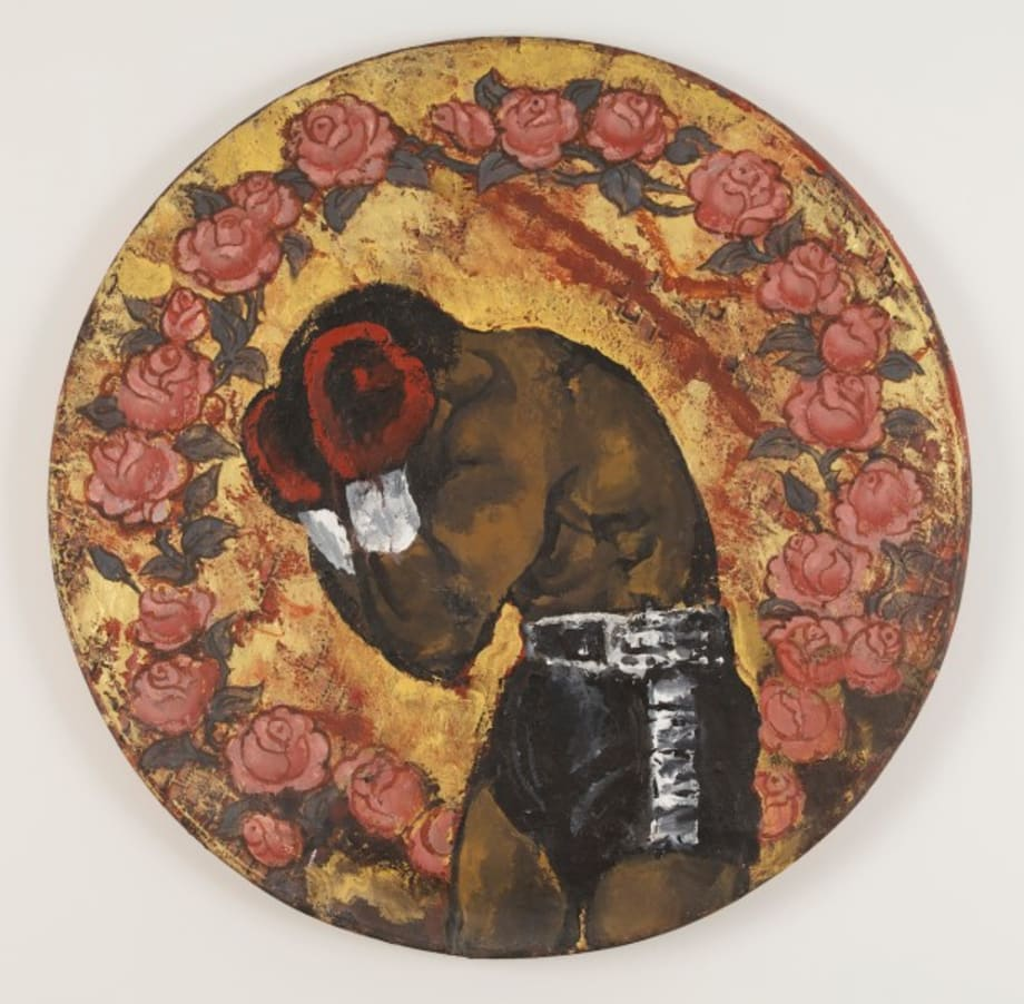 Untitled (portrait of boxer with roses) by Martin Wong