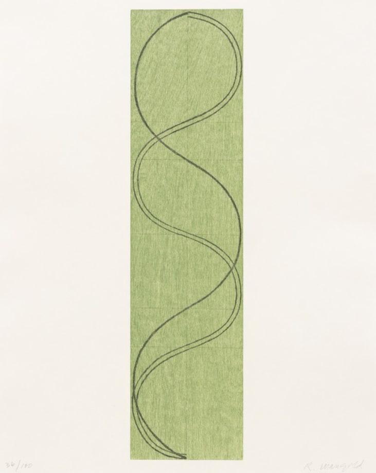 Green Column/Figure by Robert Mangold