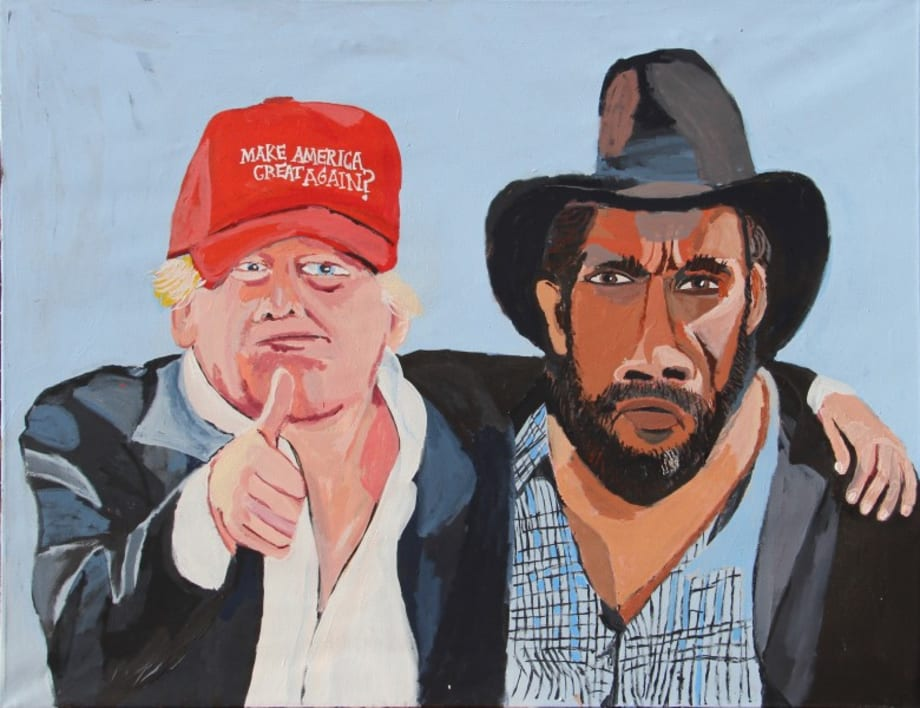 Vincent & Donald (Thumbs up) by Vincent Namatjira