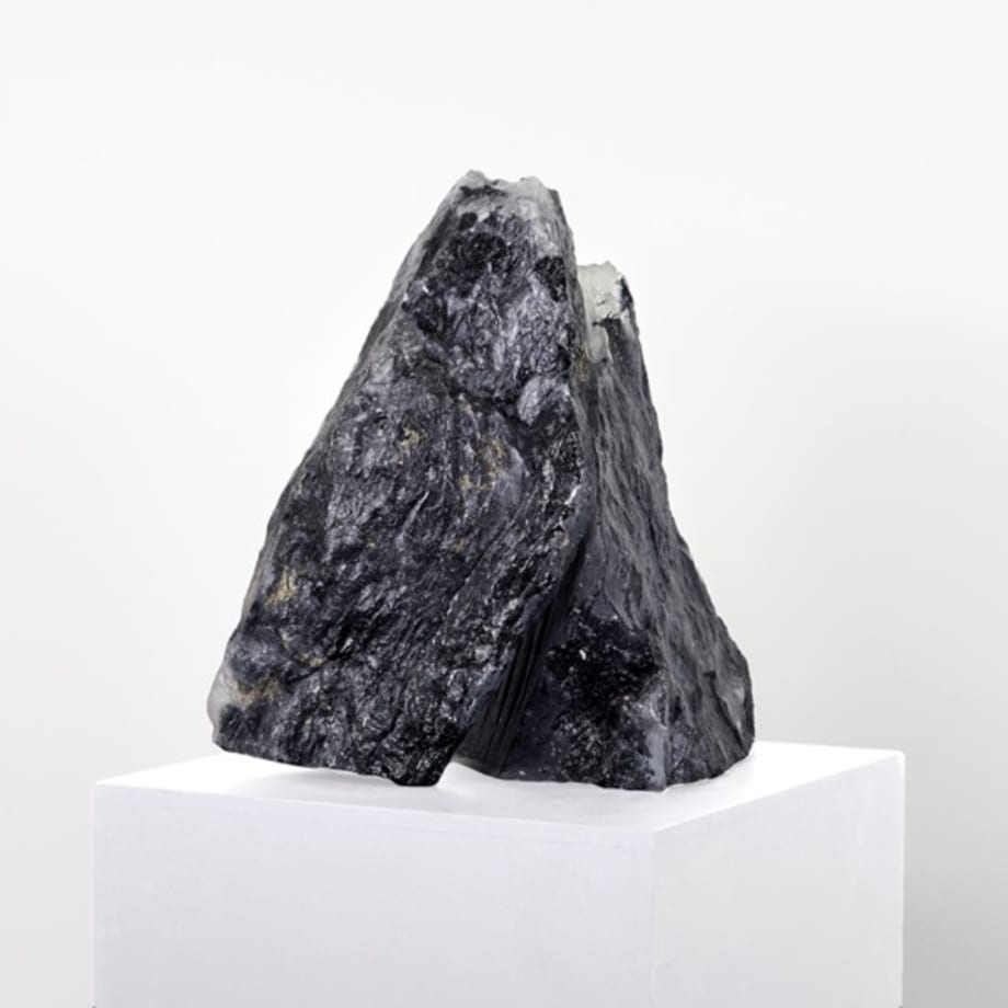 Untitled (Black Murano Glass, Mountain 1) by Michel Comte