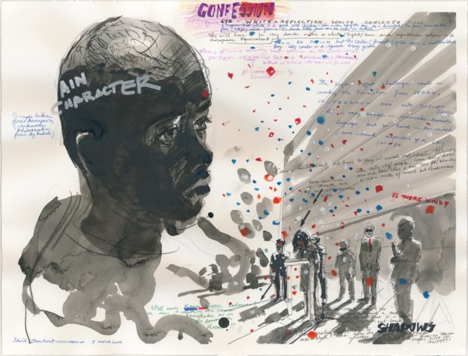 Confetti Drawing (Confession) by David Claerbout