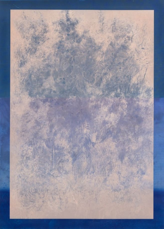 Dust Painting: Pink Over Blue in 3 Shades by Sayre Gomez