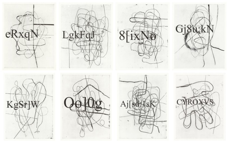 Portraits by Christopher Wool