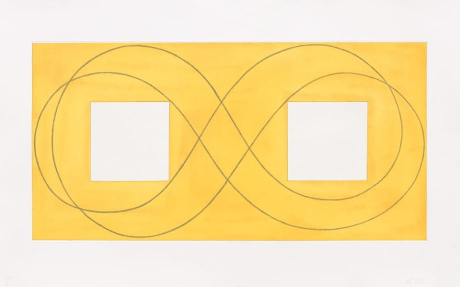 Double Square Frame I by Robert Mangold