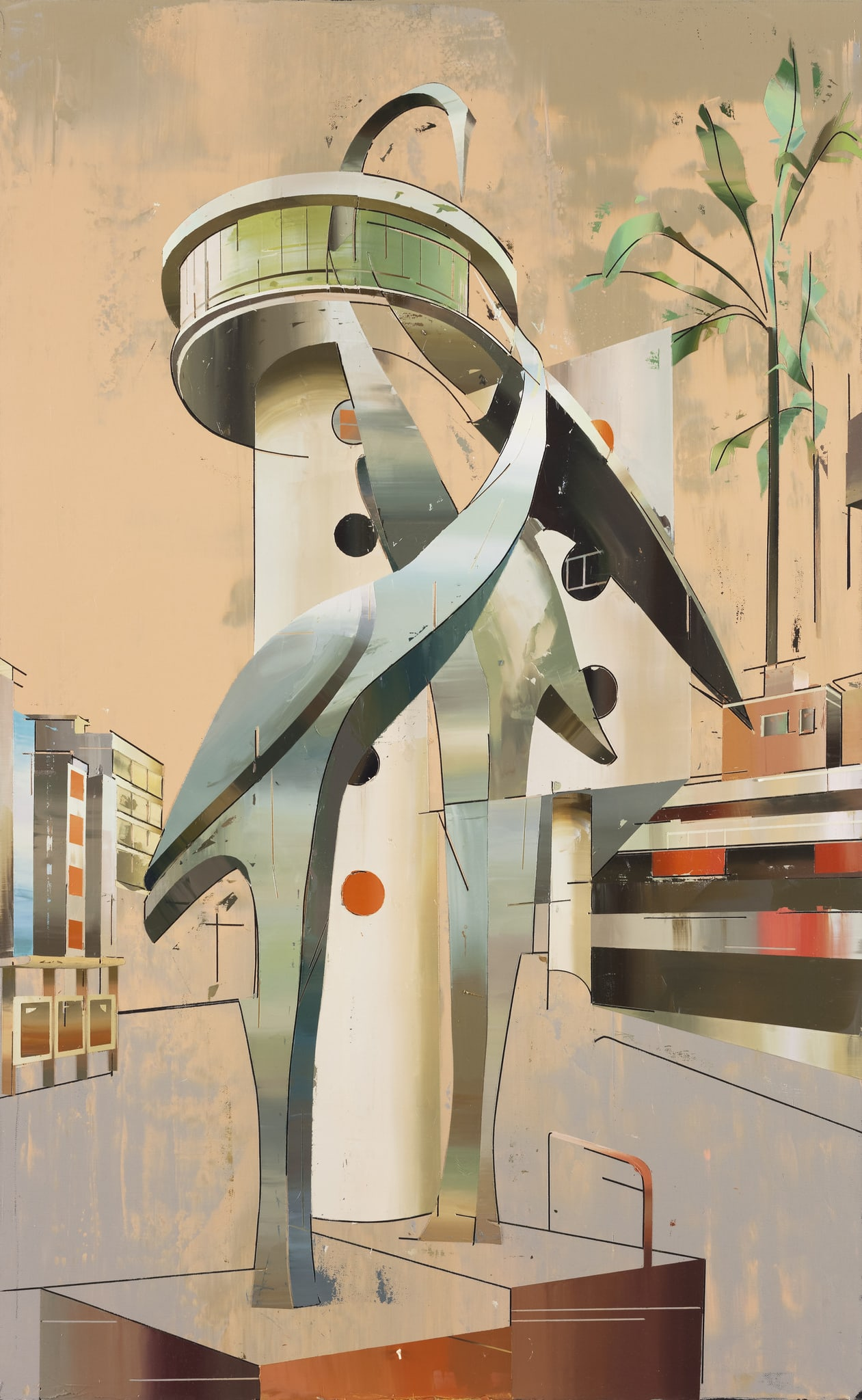 Building of Cranes #2 by Cui Jie