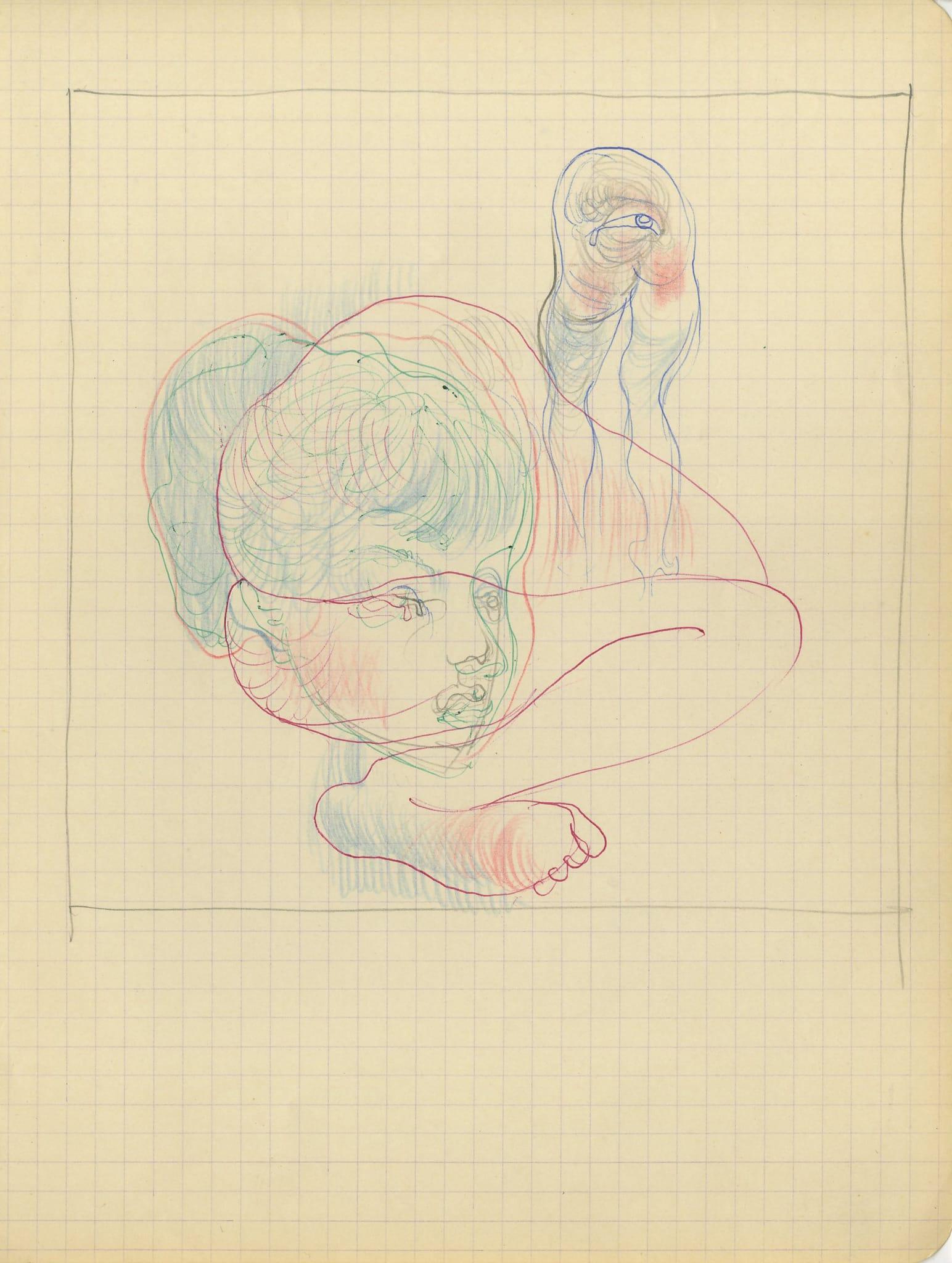 """Etude préparatoire au """"Portrait d'Unique avec l'oeil-sexe"""" by Hans Bellmer"""