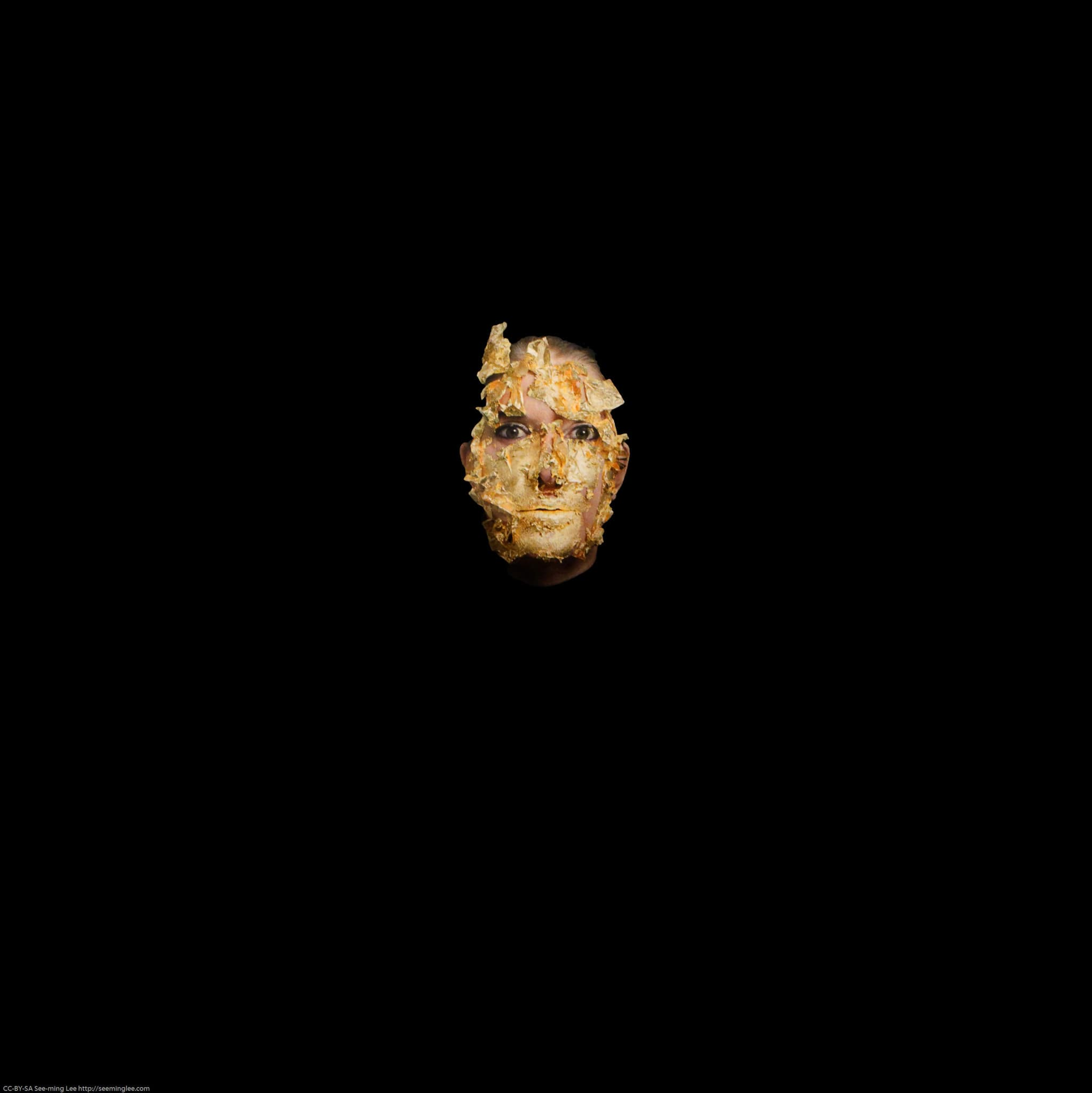 Golden Mask by Marina Abramović