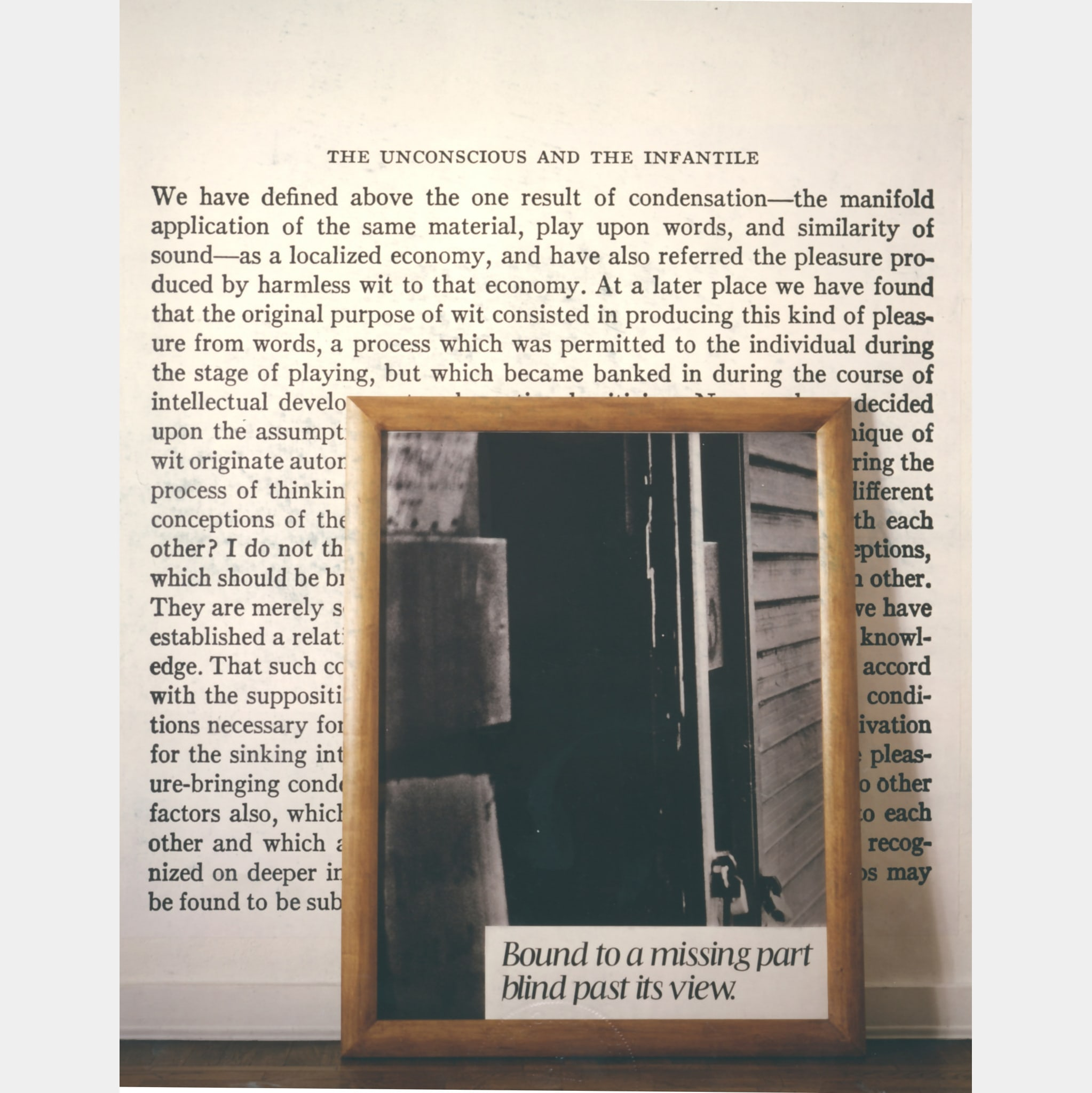 O. & A. / F. D. (to I.K. and G.F.) No. 13 by Joseph Kosuth